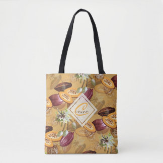 Cocoa Beans, Chocolate Flowers, Nature's Gifts Tote Bag