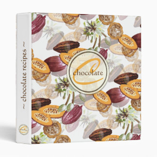 Cocoa Beans, Chocolate Flowers, Nature's Gifts Vinyl Binder