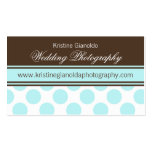 Cocoa Brown and Aqua Dots Business Cards