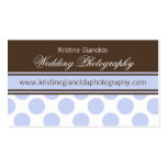 Cocoa Brown and Blue Dots Business Cards