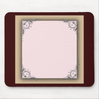 Cocoa brown and pink wedding mouse pad
