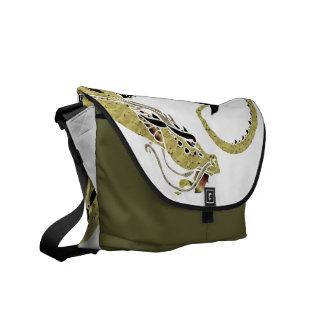 Cocoa Coiled Dragon Commuter Bag