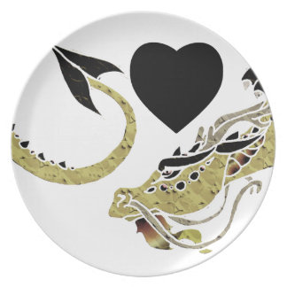 Cocoa Coiled Dragon Dinner Plates