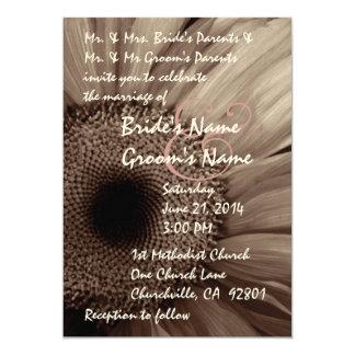 COCOA Gerber Daisy Wedding Invitation