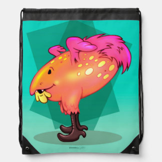 COCOA MONSTER CARTOON  Drawstring Backpack