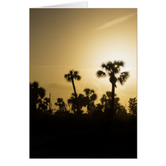 Cocoa Palm Silhouette Card