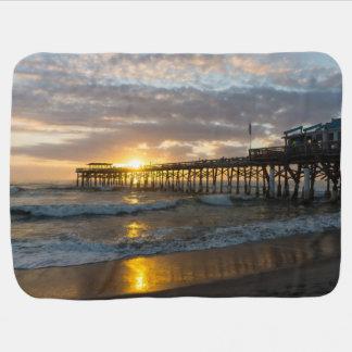 Cocoa Pier 1st Sunrise 2017 Baby Blanket