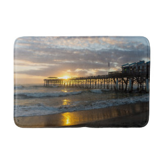 Cocoa Pier 1st Sunrise 2017 Bath Mat