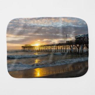 Cocoa Pier 1st Sunrise 2017 Burp Cloth