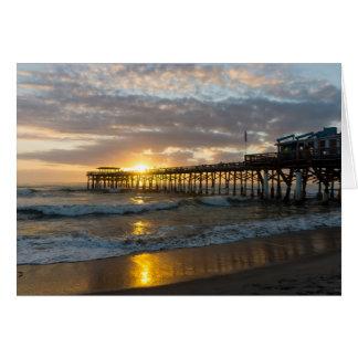 Cocoa Pier 1st Sunrise 2017 Card