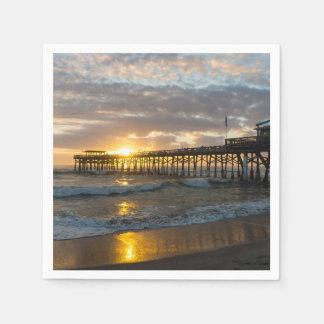 Cocoa Pier 1st Sunrise 2017 Disposable Napkin