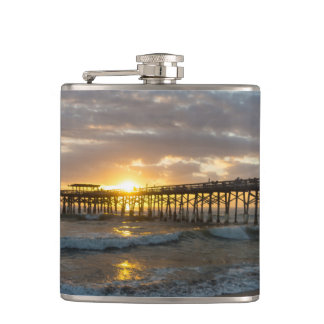 Cocoa Pier 1st Sunrise 2017 Hip Flask