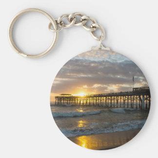 Cocoa Pier 1st Sunrise 2017 Keychain