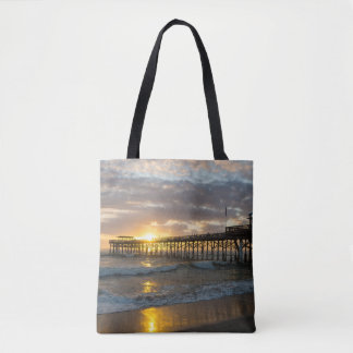 Cocoa Pier 1st Sunrise 2017 Tote Bag