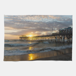 Cocoa Pier 1st Sunrise 2017 Towels