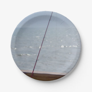 Cocoa Pier Fishing 7 Inch Paper Plate