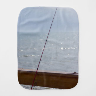 Cocoa Pier Fishing Burp Cloth