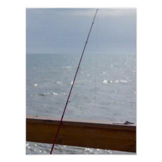Cocoa Pier Fishing Poster