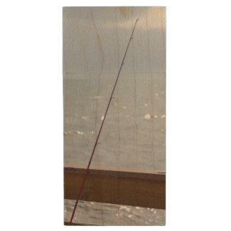 Cocoa Pier Fishing Wood USB 3.0 Flash Drive