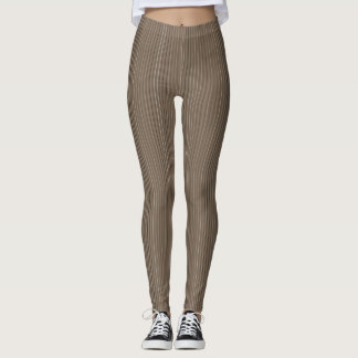 Cocoa Pinstripe Leggings