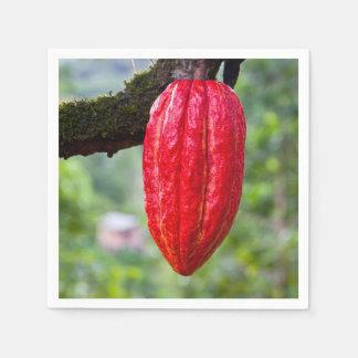 cocoa pod red disposable napkins