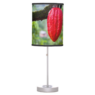cocoa pod red table lamp