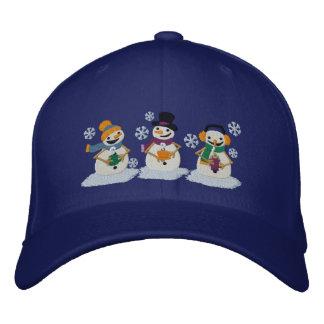 Cocoa Snowmen Embroidered Hat
