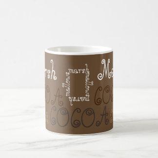 Cocoa with marshmallows mug. coffee mug
