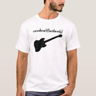 cocoabeachfloridarocks! black guitar T-Shirt