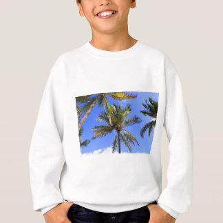 Cocoanut Palm Trees Sky Background Sweatshirt