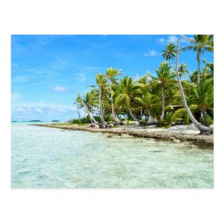 Coconut beach postcard