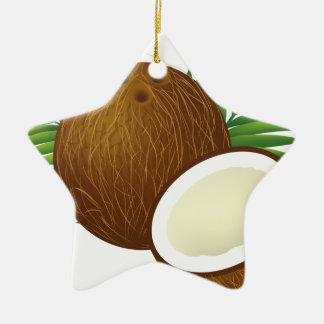 Coconut Cartoon Ceramic Ornament