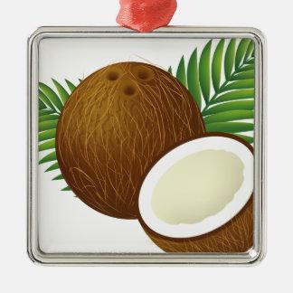 Coconut Cartoon Metal Ornament