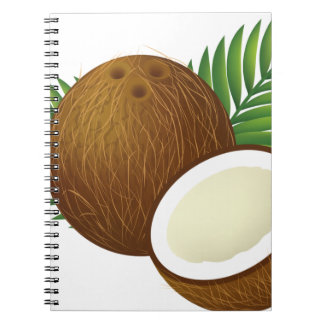 Coconut Cartoon Spiral Notebook