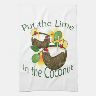 Coconut Drink Tiki Bar Towel