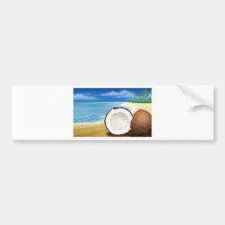 Coconut Getaway Bumper Sticker