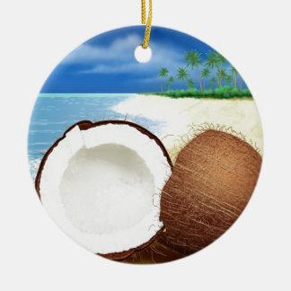 Coconut Getaway Ceramic Ornament