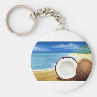 Coconut Getaway Keychain