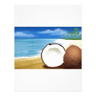 Coconut Getaway Customized Letterhead