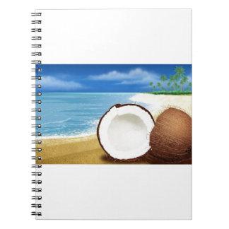 Coconut Getaway Spiral Note Book