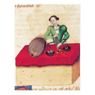 Coconut Merchant from the 'Tractatus de Postcard