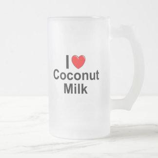 Coconut Milk Frosted Glass Beer Mug