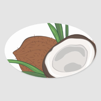 Coconut Oval Sticker