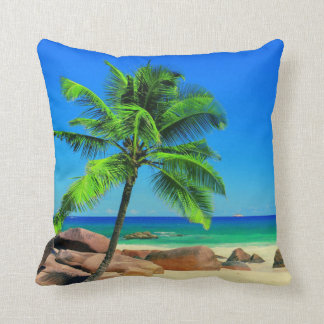 COCONUT PALM ROCKS BEACH CUSHION