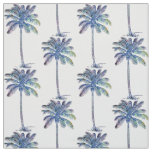 Coconut Palm Trees Pattern Coloured Pencil Drawing Fabric