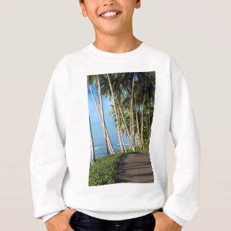 Coconut palm trees tropical island sweatshirt