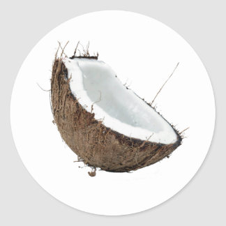 Coconut Round Sticker