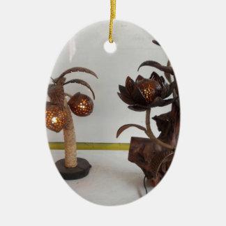 coconut shell lamp ceramic oval ornament