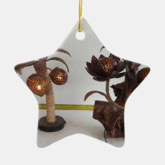 coconut shell lamp ceramic star ornament