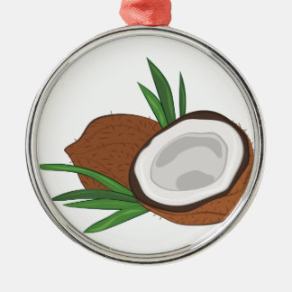 Coconut Silver-Colored Round Ornament